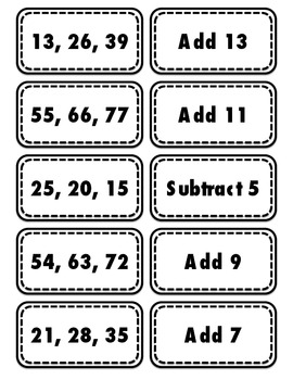 Addition and Subtraction Number Patterns