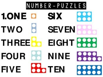 Addition and Subtraction Number Puzzle Flashcards