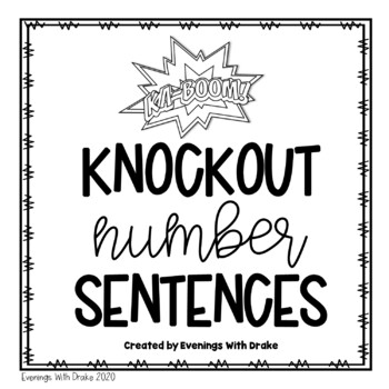 Building and Writing Number Sentences Using Multi-Digits for 1st - 3rd Grades