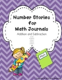 Addition and Subtraction Number Stories for Math Journals