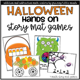 Addition and Subtraction Number Story Mat Games- Halloween Mini Bundle