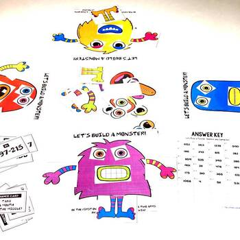Addition and Subtraction Halloween Game