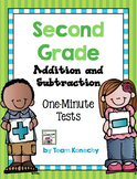 Addition and Subtraction One Minute Math Test - Second Grade