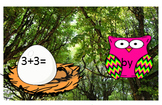Addition and Subtraction Owl Sight Word Review