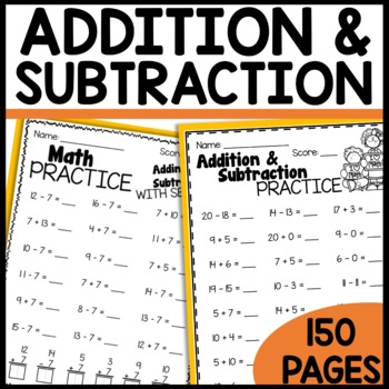 Addition and Subtraction PRINT and GO Sheets