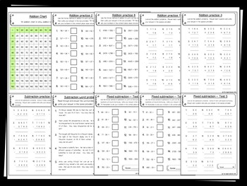 Addition & Subtraction Pack (Hundreds and Thousands) - 60 PRACTICE printables