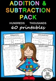 Addition & Subtraction Pack (Hundreds and Thousands) - 60