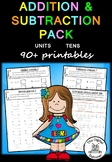 Addition & Subtraction Pack (Units and Tens) 90+ PRACTICE