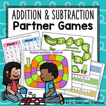 Addition and Subtraction Partner Games