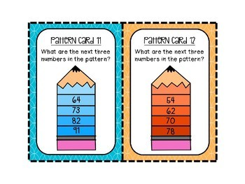 Addition and Subtraction Patterns!