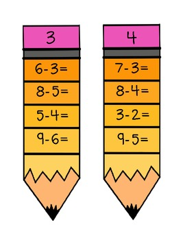 Addition and Subtraction Pencils