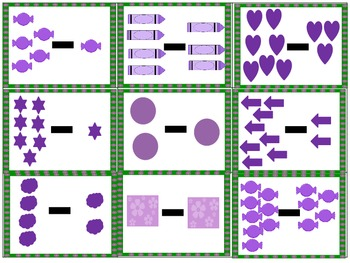 An Addition and Subtraction Picture Concentration to 10 Math Center Activity