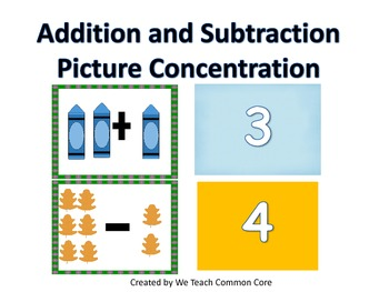 An Addition and Subtraction Picture Concentration to 10 Ma