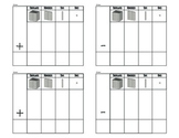 Addition and Subtraction Place Value Template - Base Ten Blocks