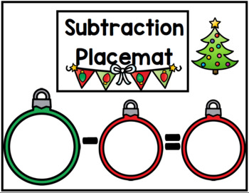 Addition and Subtraction Placemats and Worksheets (Part Part Whole)