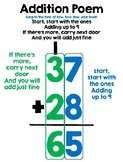 Addition and Subtraction Poem Posters