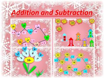Winter Math - Fun Activities - Addition and Subtraction -
