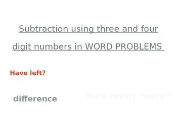 Addition and Subtraction PowerPoints