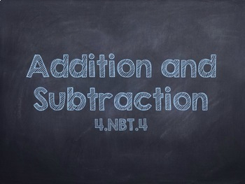 Addition and Subtraction Powerpoint (EDITABLE