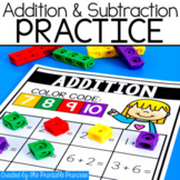 Addition and Subtraction Practice Activities {Match and Cover}