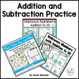 Addition and Subtraction Worksheets and Centers