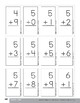 Addition and Subtraction Practice Cards, Grade 1