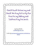 Checkbook Balancing and Check Writing Practice Activity