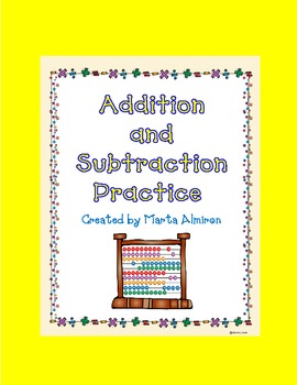 Addition and Subtraction Practice - Freebie