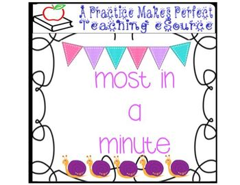 Addition and Subtraction Practice Game:  Most in a Minute