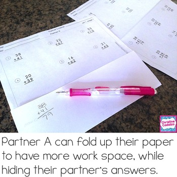 Addition and Subtraction Practice Partner Pages- BUNDLE