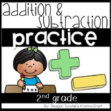 Addition and Subtraction Practice Second Grade