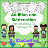 Addition and Subtraction Practice for Kindergarten