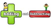 Addition and Subtraction Practice using Dice and Number Bonds - Smart Board
