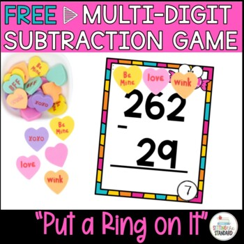 Addition and Subtraction Double & Triple Digit Game FREEBIE