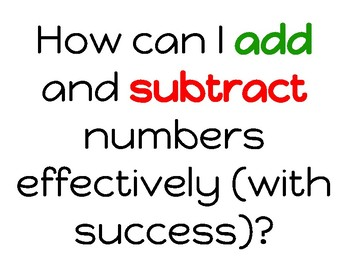 Addition and Subtraction Printable