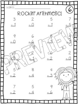 Addition and Subtraction Printables {0-10}