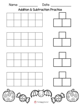 Addition and Subtraction Printables {FREE} Fall & Halloween Worksheets