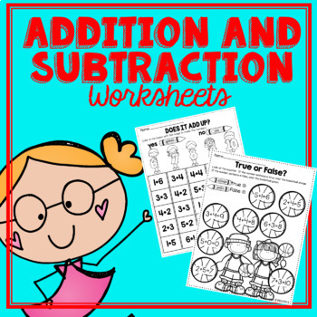 Addition and Subtraction Printables- K.OA.1