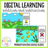 Addition and Subtraction Problem Solving Google Slides