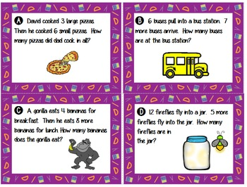 Addition and Subtraction Problem Solving - Join Problem Structure!  BUNDLE