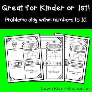 Addition and Subtraction Problem Solving Pack (Sums & Minuends to 10) {TEKS}