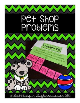 Addition and Subtraction Problem Solving - Pet Shop