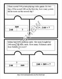 Addition and Subtraction Problem-Solving Puzzles