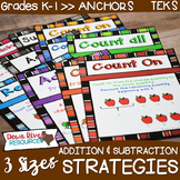 Addition and Subtraction Problem Solving Strategy Anchor Charts {TEKS/CCSS}