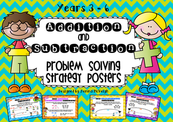 Addition and Subtraction Problem Solving Strategy Posters ~ Miss Mac Attack ~