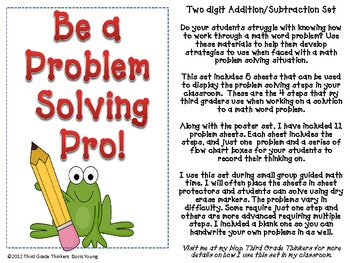 Addition and Subtraction Problem Solving: Word Problem Strategy