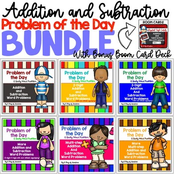 Addition and Subtraction Problem of the Day BUNDLE {Word Problems}