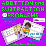 Addition and Subtraction Problems BOOM Task Cards (answers