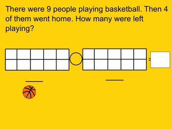 Addition and Subtraction Problems Smartboard