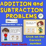 Addition and Subtraction Problems (within 30 Digital Boom